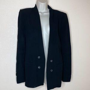 ZARA || black 4 button structured blazer large